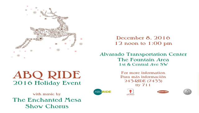 SPDNA slider events ARTbeat ABQRide 2016 Holiday Event
